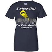 PREMIUM I Must Go Video Games Need Me Bat Signal T-Shirt