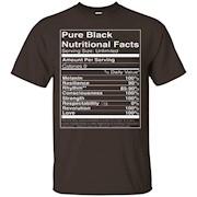 Pure Black Nutritional Facts T-Shirt Unisex T-Shirt