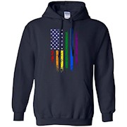 Rainbow American Flag T-Shirt, Gay Pride Day Shirts