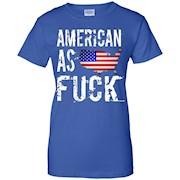 American as Fuck USA T-Shirt – Funny Patriotic US Flag