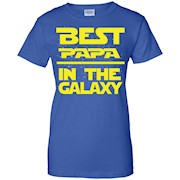 Best PaPa In The Galaxy Super Star Hero War Shirt – Father
