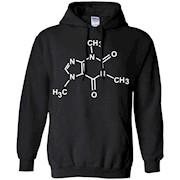 Caffeine Molecule T-Shirt Coffee Lovers Chemistry Tee