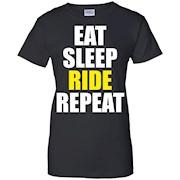 Eat Sleep Ride Repeat Dirt Biking Dirt Bike Shirts Men Bike