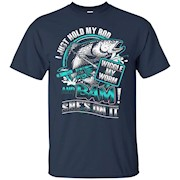 Fishing T-shirt , I just hold my rod wiggle my worm and bam
