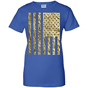 Gold Foil American Flag T-Shirts