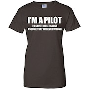I'm An Pilot T-shirts airplane helicopter eagle pilot gifts