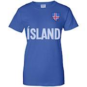 Iceland Mens National Team Soccer T-Shirt