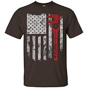 Machinist shirt- Machinist flag us 4th july
