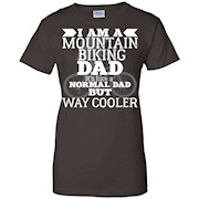 Men's I'M A MOUNTAIN BIKING DAD T-SHIRT Funny Father's Day Humor Bike Gift