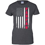 Men's Pawpaw US Flag Father Day T-shirt America Funny Gift Sale
