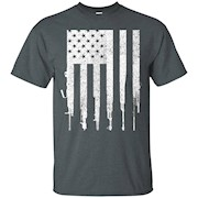 Men's Rifle American Flag Shirt Gun Rights T Shirt