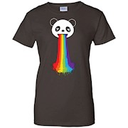 Rainbow Cute Panda Funny T-Shirt LGBT Gay Pride Month 2016