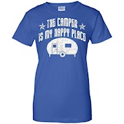 The Camper Is My Happy Place T-shirt RV Camping Tee Gift