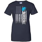 American Marine War USA Flag Proud Freedom Semper Fi T-Shirt