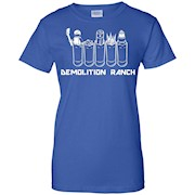 Demolition ranch shirt – Black Navy Red – For Men Women Kids