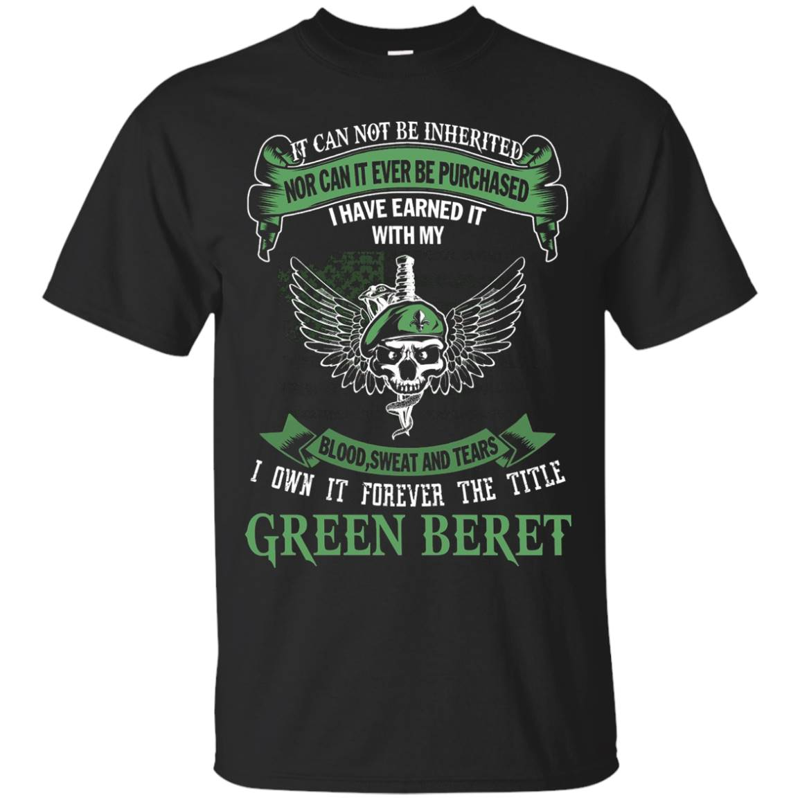 I Own The Title Green Beret – Cool Green Beret Shirt