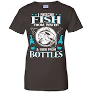 I Rescue Fish from Water and Beer from Bottles shirt – Funny