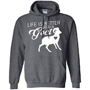Life is better with a goat best farm ranch funny t-shirt