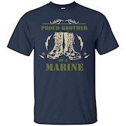 Proud Brother of a Marine Soldier Gift T Shirt