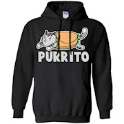 Purrito Mexican Burrito Cute Funny Kitty Cat Lover Tee Shirt