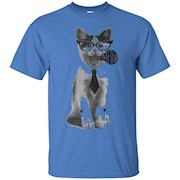 Meow Kitten Cat Tie Collar Cuff T-Shirt By TeeToop