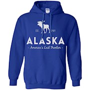 Alaska America's Last Frontier T-Shirt With Moose