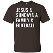 Jesus Sundays Family Football T shirt