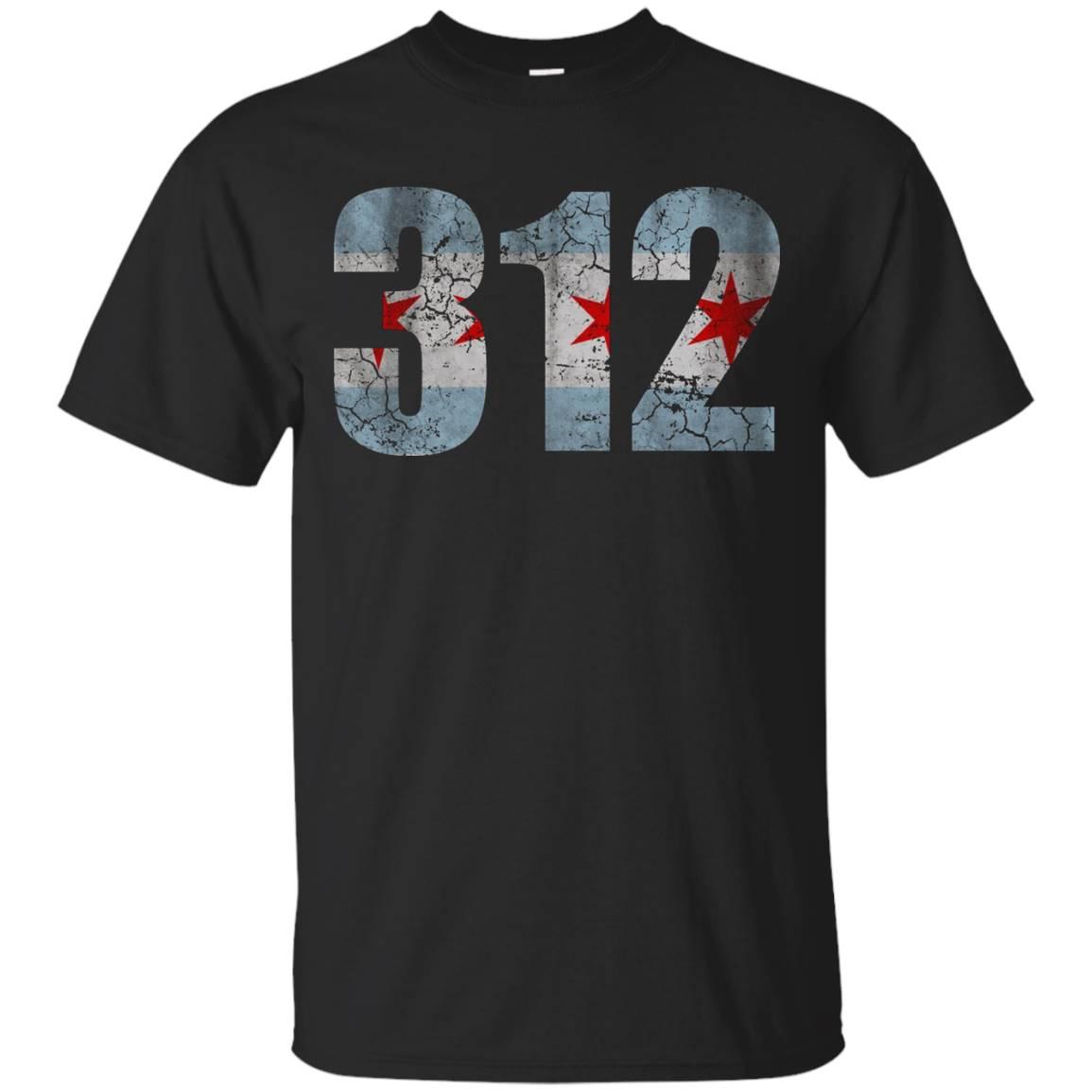 Retro Chicago Flag 312 T Shirt