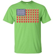 Beer Pong Red Solo Cup American Flag Tee shirt