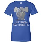 I just freaking love elephants ok T-Shirt