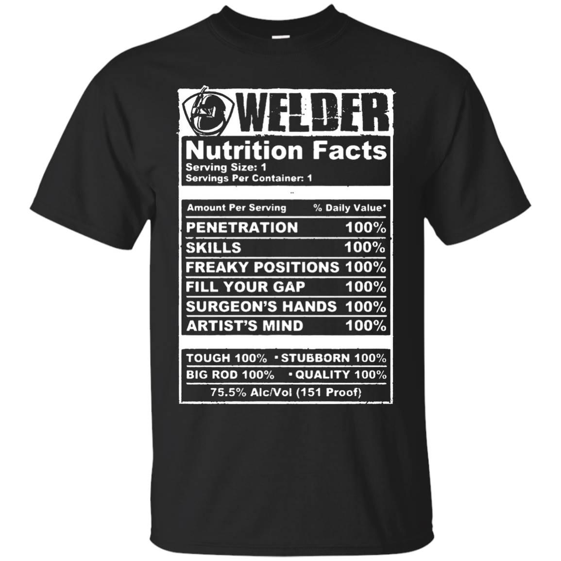 Men's Welder Nutrition Facts T-Shirt