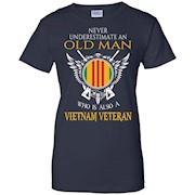 Never Underestimate Old Man Shirt – Vietnam Veteran T-Shirt