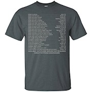 Bible emergency numbers tee, tshirt