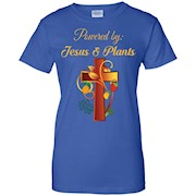 Christian Shirt Jesus and Plants Vegan Vegetarian Christian
