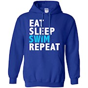 Eat Sleep Swim Repeat Funny T-shirt Swimming Swimmer Diver