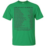 Bible Emergency Numbers T-Shirt – Back Shirt