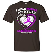 Alzheimers Awareness Shirt – I Wear Purple For My Dad