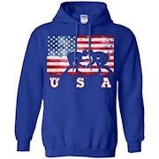 American Flag Wrestling Shirt, Team Training, USA Flag