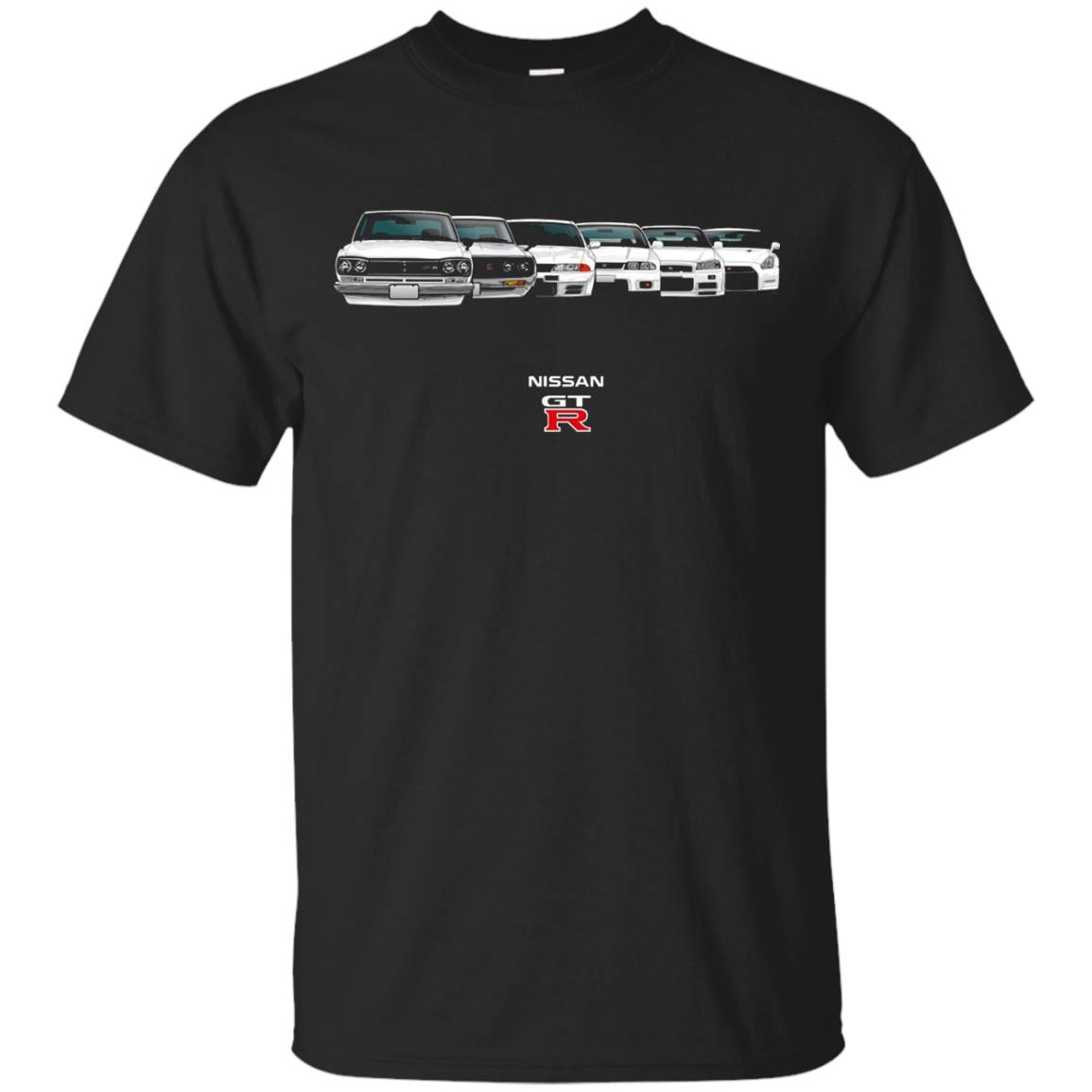 GTR Skyline Evolution History All Models Sports Car T-Shirt