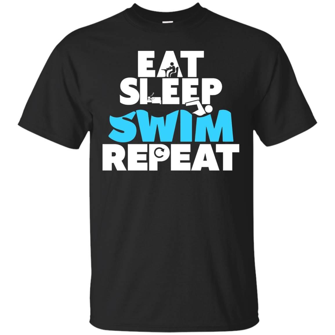 Eat, Sleep, Swim, Repeat – Swimming T-shirt