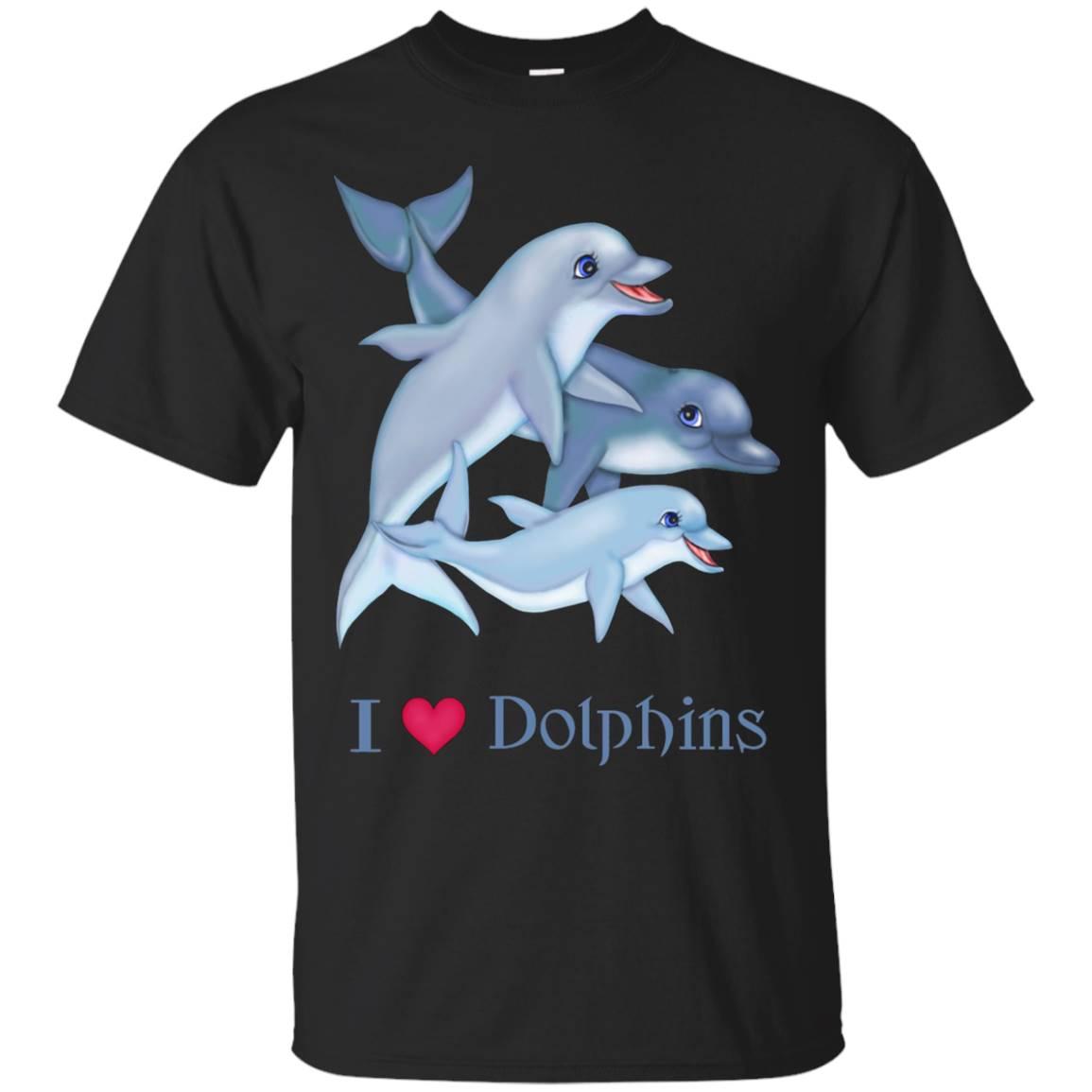 I Love Dolphins Pod Family t-shirt
