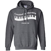 Created to Worship – Piano – Christian T-Shirt