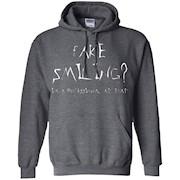 Fake smiling t shirt – emo t shirts for teen girls