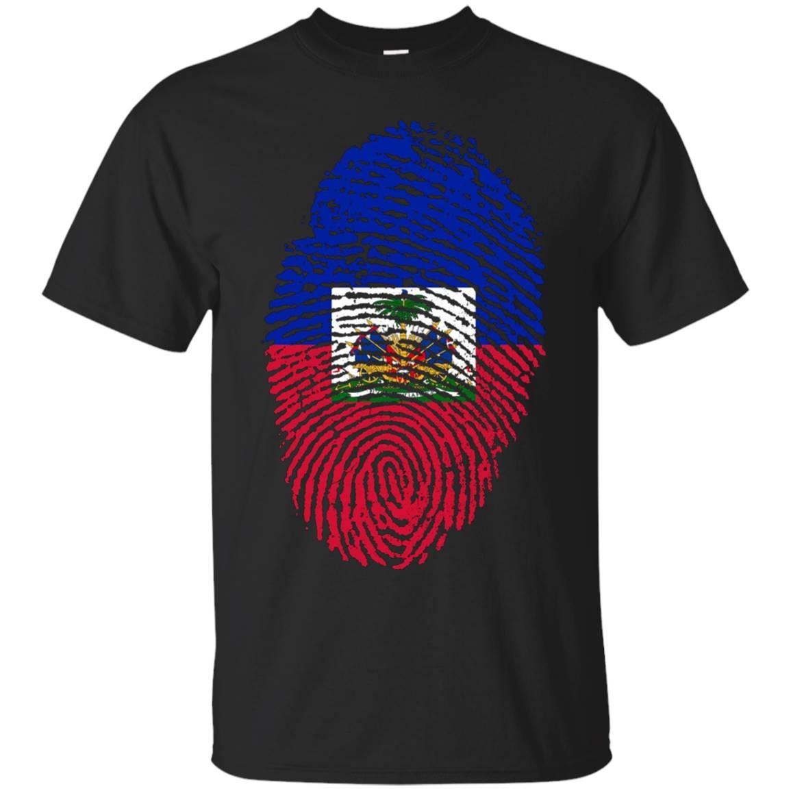 Haitian Fingerprint Flag T – Shirt