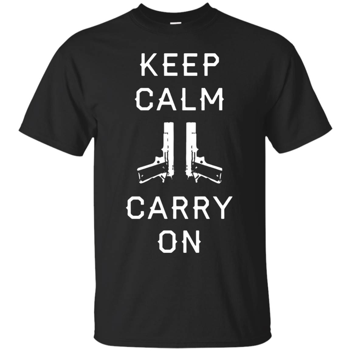 Represent Keep Calm and carry on cool guns T shirt 2016