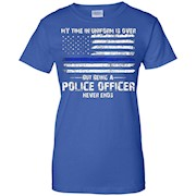 Retired police officer saying – Cool thin blue line T-shirt