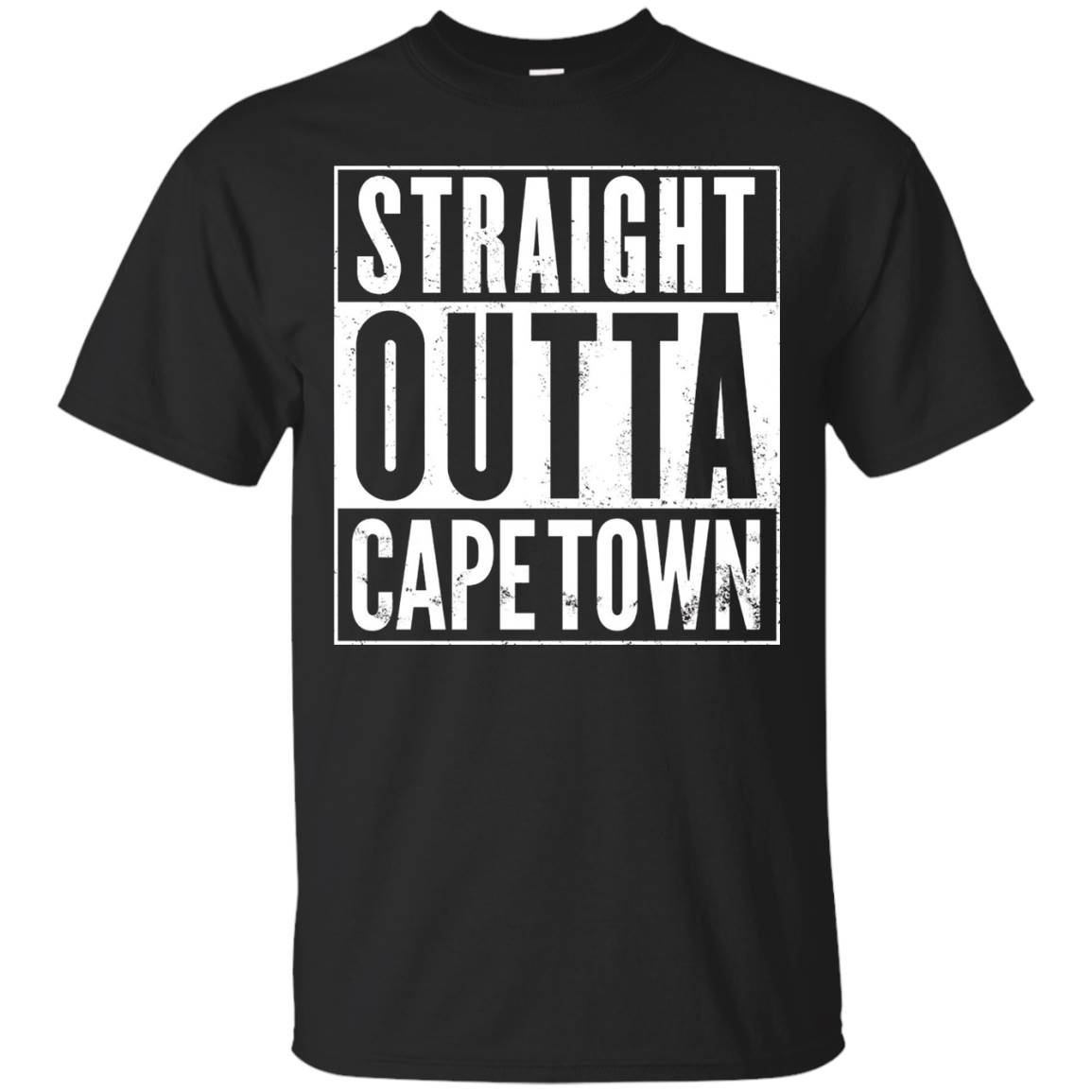 Straight Outta Cape Town South Africa Funny T-Shirt