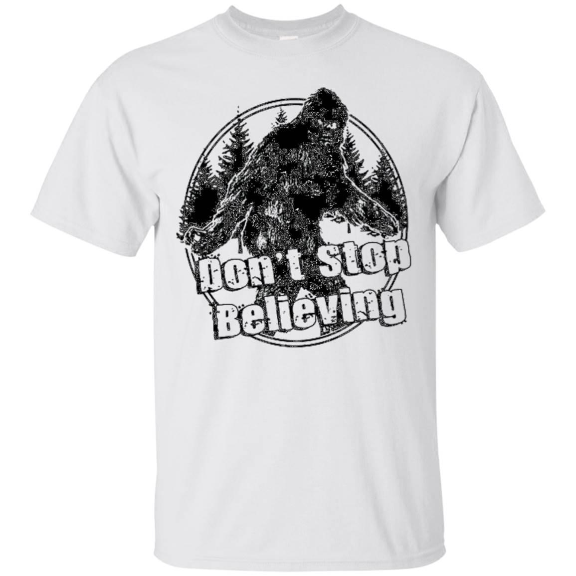 Don't Stop Believing Sasquatch Big Foot Hunters Shirt