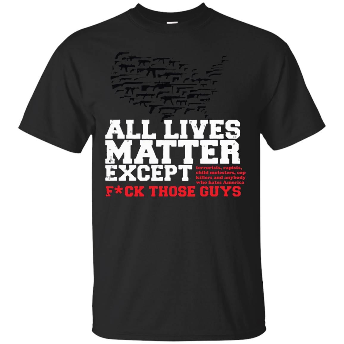 All Lives Matter American Gun Flag USA TShirt