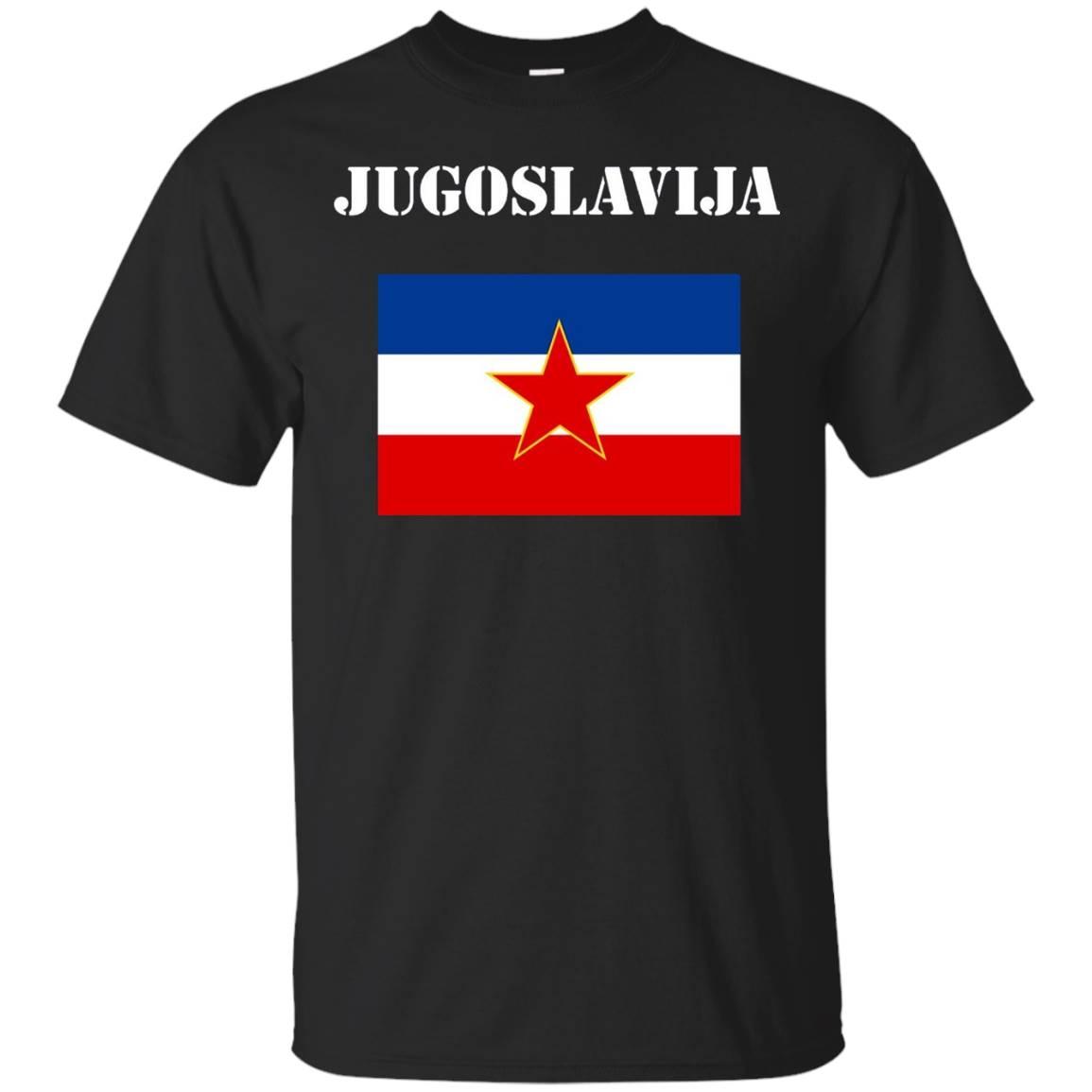 Vintage Eks Jugoslavia Flag T-Shirt Ex Yugoslavia Tee Shirt